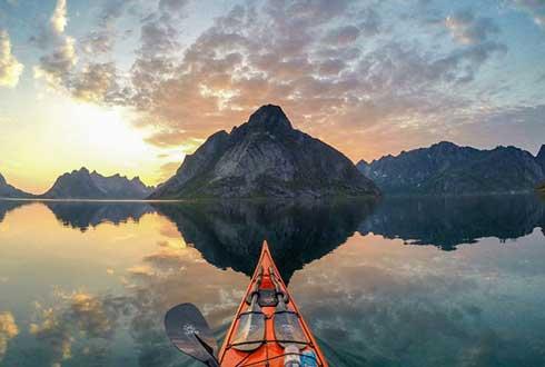 카약 타고 본 노르웨이 풍경, 환상적
