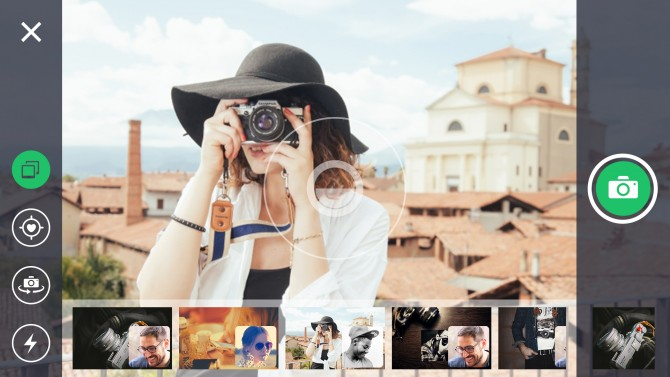 렛츠픽의 실행 화면. 사진 촬영하면서 동시에 그룹원의 사진을 실시간 공유가 가능하다. - KAIST 제공