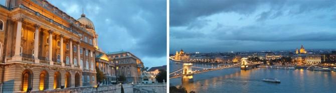 슬픔과 화려함이 공존하는 부다 왕궁(왼쪽)과 전망대에서 내려다 본 부다페스트(오른쪽) - 고기은 제공