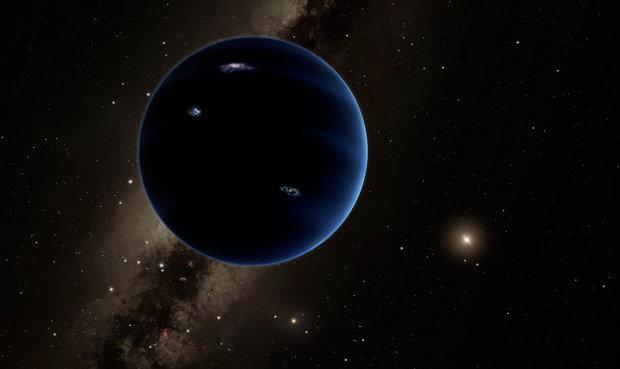 9번째 태양계 행성의 상상도. - 칼텍 제공