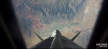 뉴 셰퍼드에 탑승했을 때 볼 수 있는 지구의 모습. - 블루오리진 제공