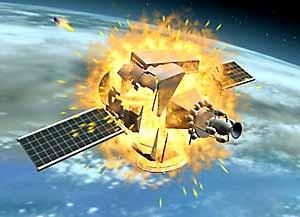 중국의 위성공격무기(ASAT) 상상도. - globescope 제공