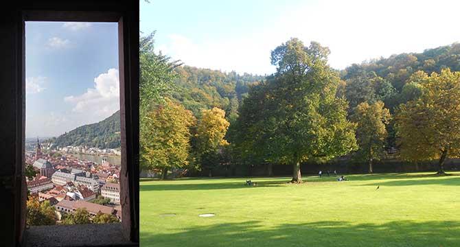 테라스 전망대에서 내려다 본 도시 풍경(왼쪽)과 안락한 휴식처가 되어주는 드넓은 정원(오른쪽) - 고기은 제공