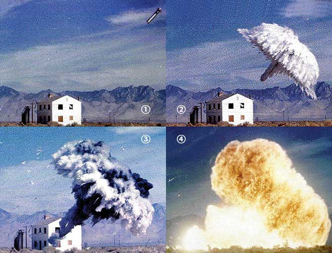 미군의 열압력탄 폭발사진. 알루미늄 분말이 폭발할 때 생기는 강력한 충격파를 이용하는 무기다. - 미국과학자연맹(FAS) 제공
