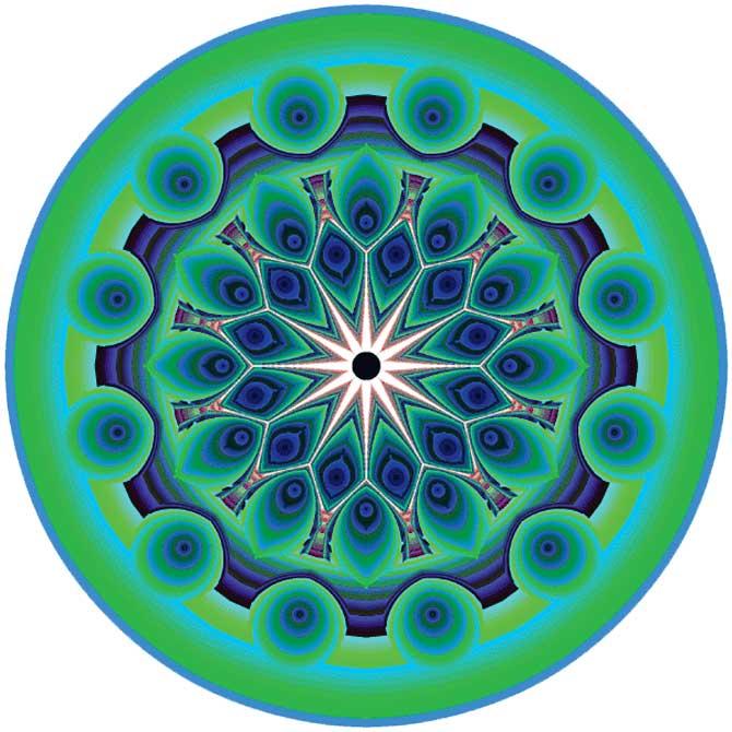 무려 36차식으로 만든 작품으로, 오리엔탈 문화의 진수로 평가받는 페르시안 카펫에서 영감을 받아 디자인했습니다. - 바흐만 카탄타리(미국 뉴저지주립대 컴퓨터과학과 교수) 제공