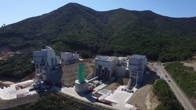 한국형 발사체 개발을 위해 나로우주센터에 들어선 시험기관추진설비의 모습.  - 한국항공우주연구원 제공