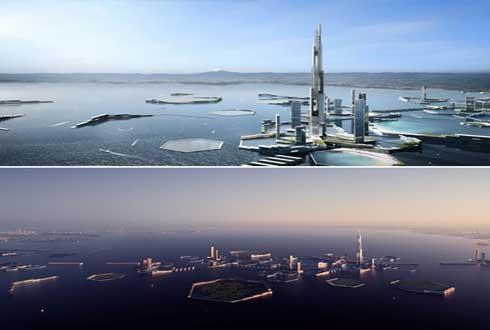 바다에 가라앉지 않게, 2045년 도쿄 청사진