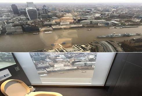 """""""왕을 위한 화장실"""" 런던의 전망 최고 화장실"""