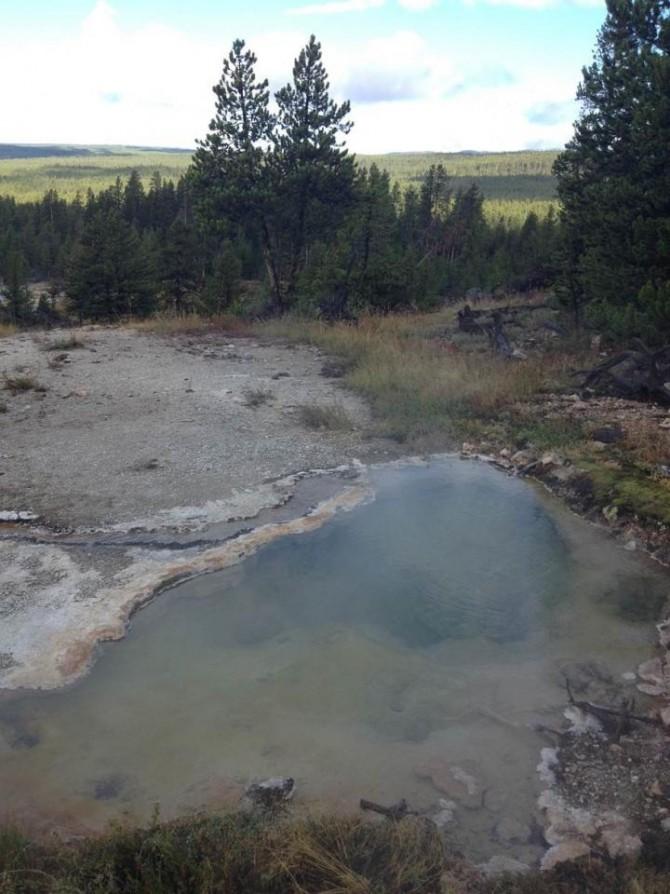 하데스아키아가 발견된 미국 옐로우스톤국립공원의 한 지점.  - 美 몬태나대 제공