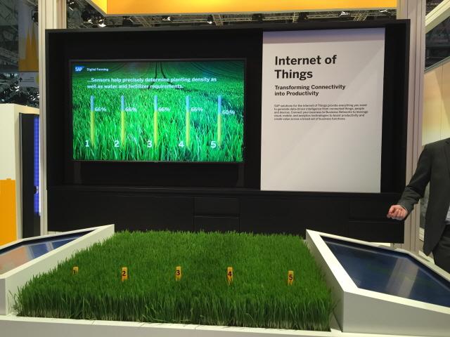 SAP이 전시한 IoT 솔루션 - 바르셀로나=김규태 기자 kyoutae@donga.com 제공