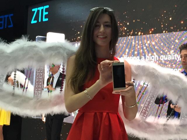 중국 기업 ZTE의 제품 설명회 장면 - 바르셀로나=김규태 기자 kyoutae@donga.com 제공