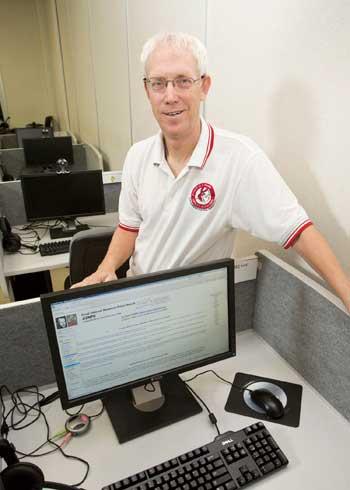 쿠퍼 교수가 2013년에 48번째 메르센 소수를 발견했을 때 찍은 사진 - 커티스 쿠퍼 제공