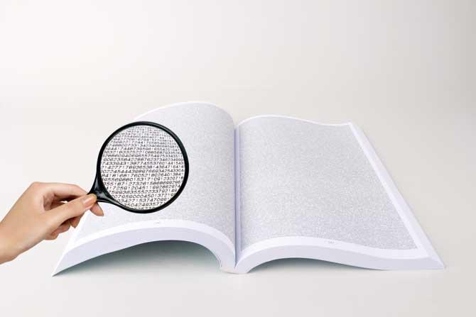 이번에 발견된 49번째 메르센 소수를 담은 책이다. 책의 안쪽에는 숫자가 빼곡하게 인쇄돼 있다. - 최경재, GIB 제공