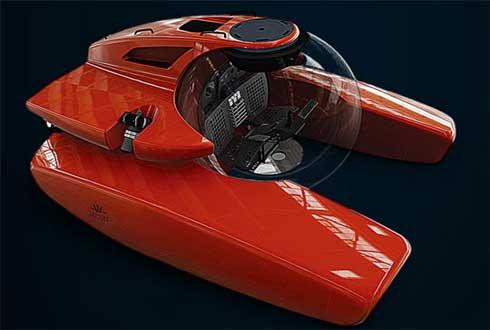 70억짜리 개인용 잠수함, 2천m 잠수 가능