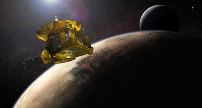 지난해 지구에서 약 50억 ㎞ 떨어진 태양계 최외곽의 명왕성을 촬영한 탐사선 '뉴호라이즌스'. 탑재된 카메라는 심우주의 극단적인 온도차를 견딜 수 있는 '실리콘 카바이드(SiC)'로 제작됐다. - (주)동아사이언스 제공
