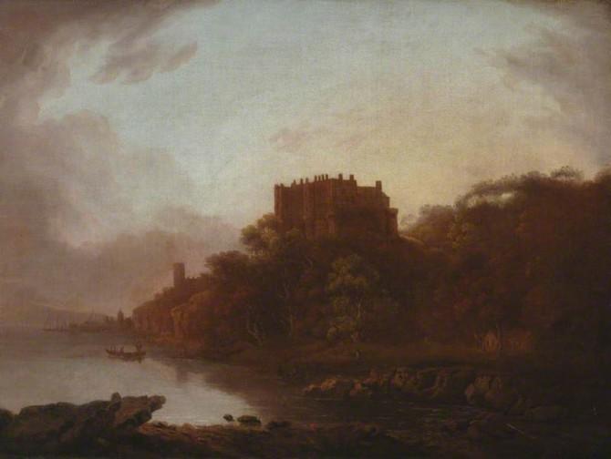 메리 소머빌은 뛰어난 풍경화가이기도 했다. 소머빌의 작품 '호숫가의 성채' - 소머빌 칼리지 제공