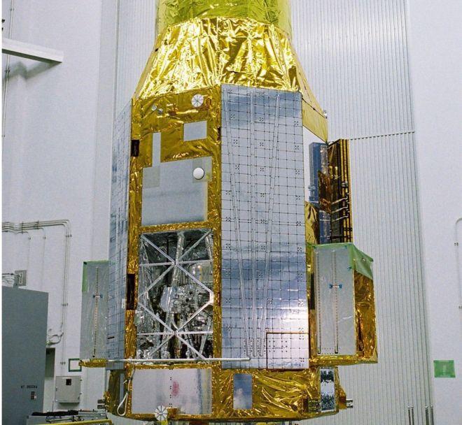 일본의 X선 천체 관측 위성 '히토미(아스트로-H)'의 발사 전 모습. - 일본우주항공연구개발기구(JAXA) 제공