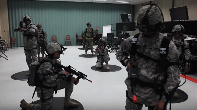 VR을 이용한 미군의 훈련장면 - 유튜브ArmyVideoTube 캡처 제공
