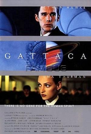 영화 가타카가 보여준 미래사회에서는 피 한 방울로 모든 유전정보를 읽어낼 수 있다. 포스터에 부적격자 프리먼과 우성인자인 아이린이 대조적으로 보인다. 그 사이로 유전자를 보여주는 세포, 프리먼의 꿈인 토성 비행이 묘하게 겹쳐져 있다. - 콜롬비아 픽쳐스 제공