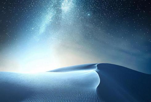 하얀 모래 사막과 밤하늘 '아름다운 풍경'