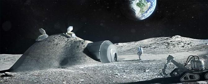 유럽우주국(ESA)이 공개한 달 기지 상상도. 3D프린터를 이용해 지을 수 있는 가볍고 튼튼한 거품형 밀폐 구조물을 제안했다. ESA는 달 기지 건설을 위한 전문 건축팀을 구성할 계획이다. - 유럽우주국 제공