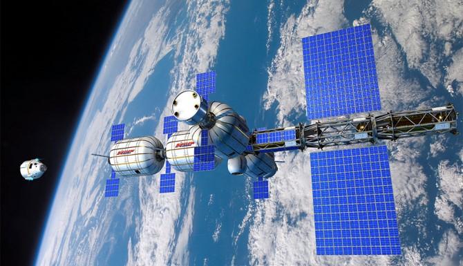 2020년 첫 민간 우주정거장이 될 대형 거주시설 'B-330'. - 비글로 에어로스페이스 제공