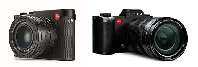 라이카는 최근 풀프레임 미러리스 카메라인 라이카Q(왼쪽)와 라이카SL(오른쪽)을 연이어 출시했습니다. - 라이카 제공