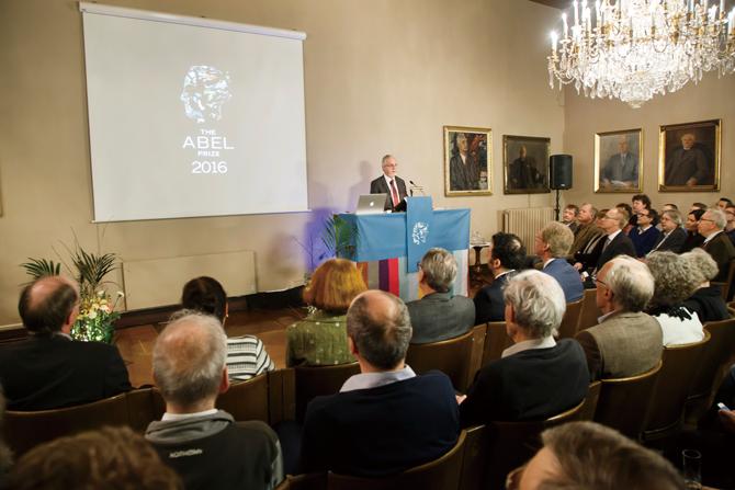 노르웨이 과학 학술원이 페르마의 마지막 정리를 증명한 앤드루 와일스를 올해 아벨상 수상자로 결정했다. - Heiko Junge 제공