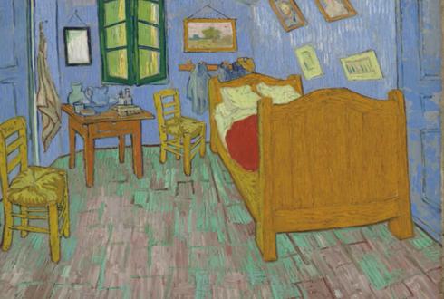1889년 고흐의 방 진짜 벽 색깔은?