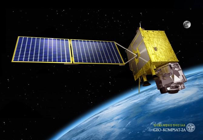 우주로 올라갈 천리안 2호 위성의 실제 모습 - 한국항공우주연구원 제공