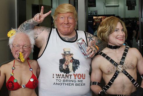 징그러울 정도, 진짜 얼굴 같은 '미국 정치인 가면'