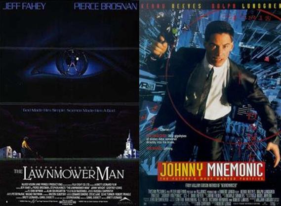 VR을 예상한 영화 '론머 맨'(왼쪽)과  '코드명 J'  - 뉴 라인 시네마, 트라이스타 픽쳐스 제공