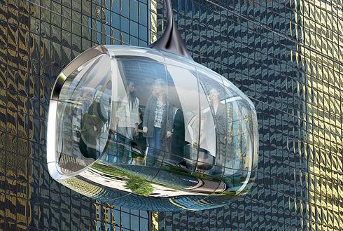 시카고의 유리 곤돌라 프로젝트 '눈길'
