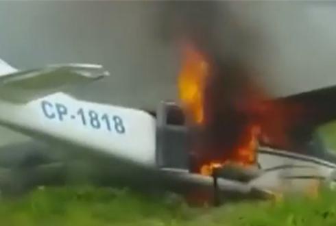 페루 경찰, 마약 밀수 비행기 추락시켜