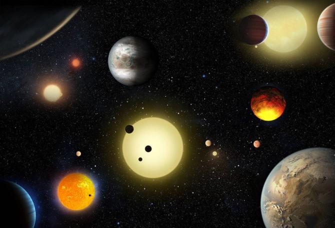 태양계 밖 '지구형 행성'을 나타낸 상상도. 지구형 행성은 지구와 크기가 비슷한 암석형 행성을 의미한다. - 미국항공우주국(NASA) 제공