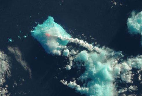 위성이 촬영한 화산 폭발, 앙증맞고 예뻐