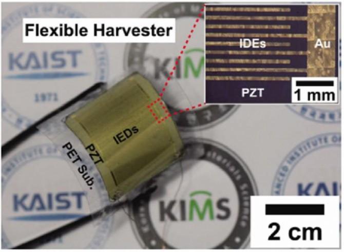 재료연-KAIST 연구진이 공동개발한 압전소자의 모습 - 재료연구소 제공