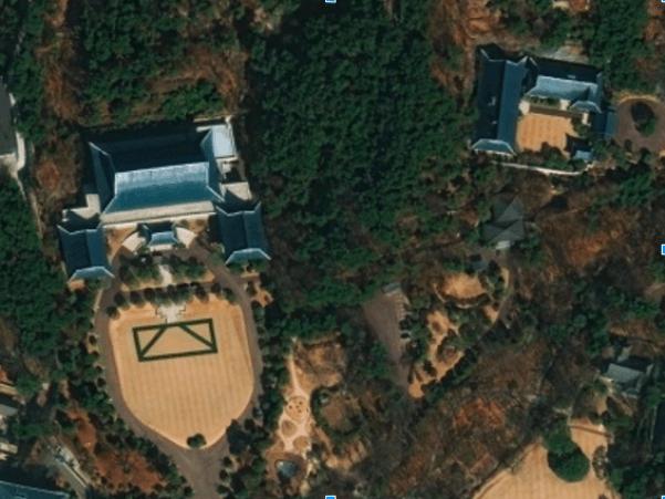 애플 위성사진으로 본 청와대