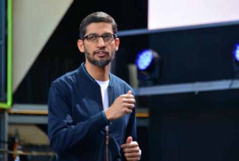 """순다 피차이 구글 CEO """"수퍼컴-머신 러닝, 기후변화와 의료문제 해결"""""""