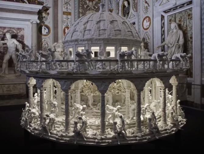 벨기에 화가 루벤스의 명화 17세기 '유아 대학살'을 3D 조트로프로 나타낸 작품. - 위키미디어 제공
