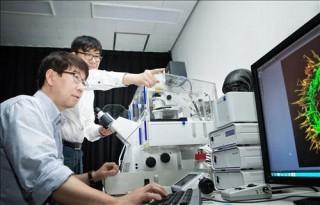 민경태 울산과학기술원(UNIST) 생명과학부 교수(왼쪽)팀은 'DSCR1' 단백질이 뇌 신경세포(뉴런)가 네트워크를 형성하고 제자리를 찾아가는 데 중요한 역할을 한다는 사실을 밝혔다. - UNIST 제공