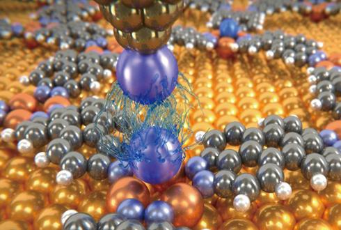 반데르발스 힘, 원자 단위에서 최초 측정