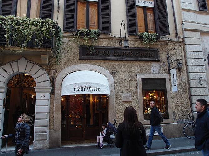 괴테가 즐겨 찾았던 로마의 카페. 아직도 영업 중이다. - 이지섭 제공