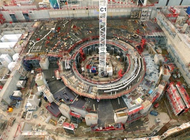 '인공태양'으로 불리는 '국제핵융합실험로(ITER)' 건설 현장. - ITER 제공