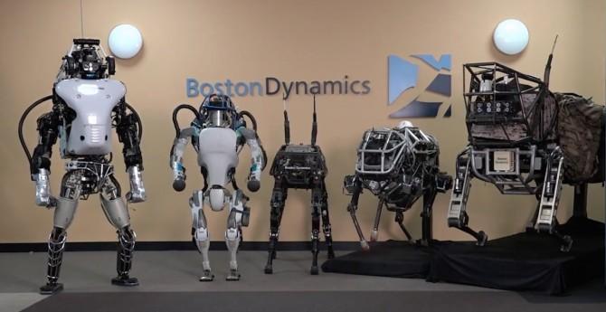 보스톤 다이내믹스의 대표적인 로봇들 - 보스톤 다이내믹스 제공