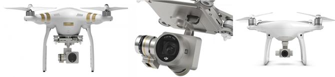 왼쪽부터 팬텀3, 팬텀의 카메라, 신제품 팬텀4 - DJI 제공