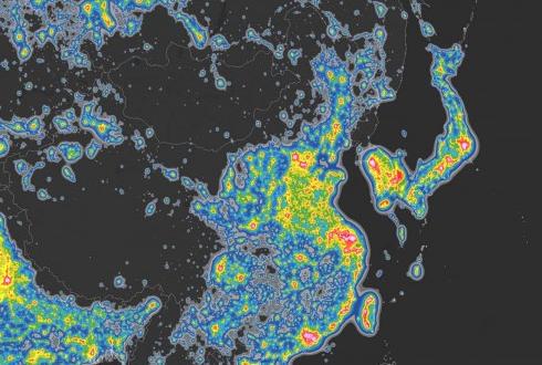 한국 국토의 89.4%는 '빛 공해' 지역
