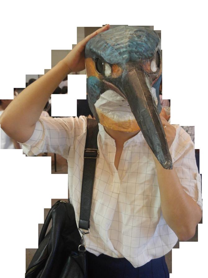 이대 야생조류연구회에서 학생들이 직접 만든 새 가면. - 김정 기자 ddanceleo@donga.com 제공