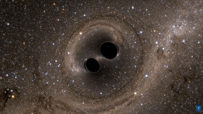 14억 년 전 두 개의 블랙홀이 합쳐지는 과정에서 발생한 중력파가 새로 관측됐다. 사진은 지난 해 9월 관측된 중력파 이미지.  - 라이고 과학협력단(LSC) 제공