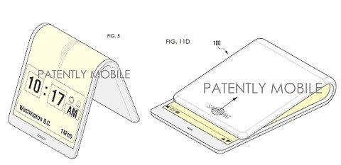 삼성전자가 2014년 등록한 접는 스마트폰 특허 이미지 - 미 특허청 제공